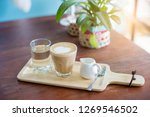 coffee in the morning at cafe... | Shutterstock . vector #1269546502