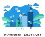 leadership  direction to a... | Shutterstock .eps vector #1269547255