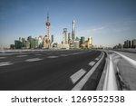 empty road in shanghai town... | Shutterstock . vector #1269552538