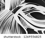abstract black and white waves  ... | Shutterstock . vector #1269556825