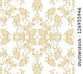 decorative floral  design | Shutterstock .eps vector #126955946