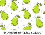 pears seamless pattern....   Shutterstock . vector #1269563308