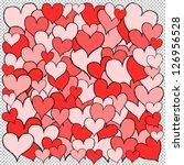 square full of various hand... | Shutterstock .eps vector #126956528