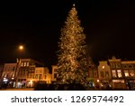 huge lighted christmas tree at... | Shutterstock . vector #1269574492