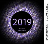 purple discoball new year 2019... | Shutterstock .eps vector #1269575362
