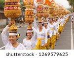 traditional balinese ritual... | Shutterstock . vector #1269579625