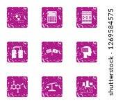 synthetic icons set. grunge set ...   Shutterstock . vector #1269584575