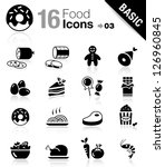 basic   food icons | Shutterstock .eps vector #126960845