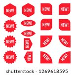 new sticker set. red promotion... | Shutterstock .eps vector #1269618595