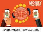 transfer money using a mobile...   Shutterstock . vector #1269630382