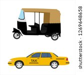 taxi cab icon set   yellow taxi ... | Shutterstock .eps vector #1269648658