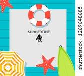summer time vector banner... | Shutterstock .eps vector #1269648685