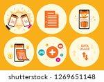 hand phone reward document... | Shutterstock .eps vector #1269651148