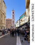 walking at old streets  nice ... | Shutterstock . vector #1269657862