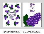 card template grapefruit vector ...   Shutterstock .eps vector #1269660238