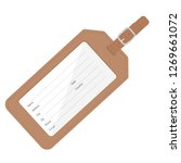 brown leather luggage tag with... | Shutterstock .eps vector #1269661072