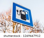 Sign Electric Vehicle Charging...