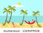 beach reading background with...   Shutterstock .eps vector #1269699028