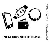 Please Check Your Belongings...