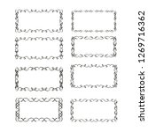 set of vector vintage frames on ... | Shutterstock .eps vector #1269716362