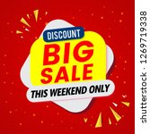 super sale banner template | Shutterstock .eps vector #1269719338