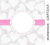 white and pink dotted hearts on ... | Shutterstock .eps vector #126972215