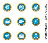 care of beastly icons set. flat ... | Shutterstock . vector #1269729352