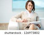 portrait of a friendly... | Shutterstock . vector #126973802
