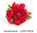 Stock photo red roses on white background 126974018