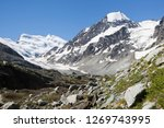 the grand combin is a mountain...   Shutterstock . vector #1269743995