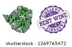 vector collage of grape wine...   Shutterstock .eps vector #1269765472