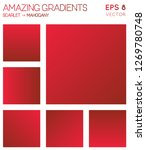 colorful gradients in scarlet ... | Shutterstock .eps vector #1269780748