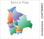 low poly map of bolivia.... | Shutterstock .eps vector #1269780892