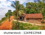 rural indian village scene with ... | Shutterstock . vector #1269812968