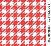 vector seamless pattern. cell... | Shutterstock .eps vector #1269827095