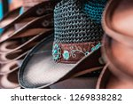 traditional cowboy hats  old... | Shutterstock . vector #1269838282