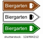 Direction Sign Beer Garden