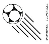 soccer ball icon vector... | Shutterstock .eps vector #1269842668