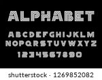 white of font and alphabet.... | Shutterstock . vector #1269852082