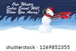 winter sales event will blow... | Shutterstock . vector #1269852355