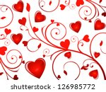 abstract glossy heart... | Shutterstock .eps vector #126985772