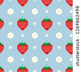strawberry with flowers on a...   Shutterstock .eps vector #1269862498