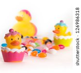 Easter Rubber Ducks With...