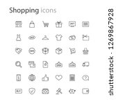 thin line icons set shopping  e ... | Shutterstock .eps vector #1269867928