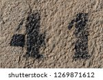 number forty one painted...   Shutterstock . vector #1269871612