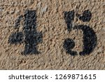 number forty five painted...   Shutterstock . vector #1269871615