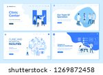 set of medical web page design... | Shutterstock .eps vector #1269872458