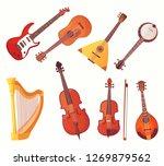 cartoon musical instruments.... | Shutterstock .eps vector #1269879562