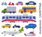 public transport. taxi car... | Shutterstock .eps vector #1269879568