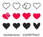 love heart icon. loving hearts  ... | Shutterstock .eps vector #1269879622